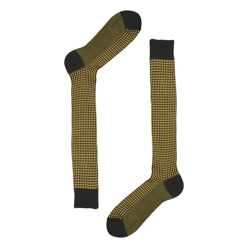 Heritage long socks with micro rhombus pattern