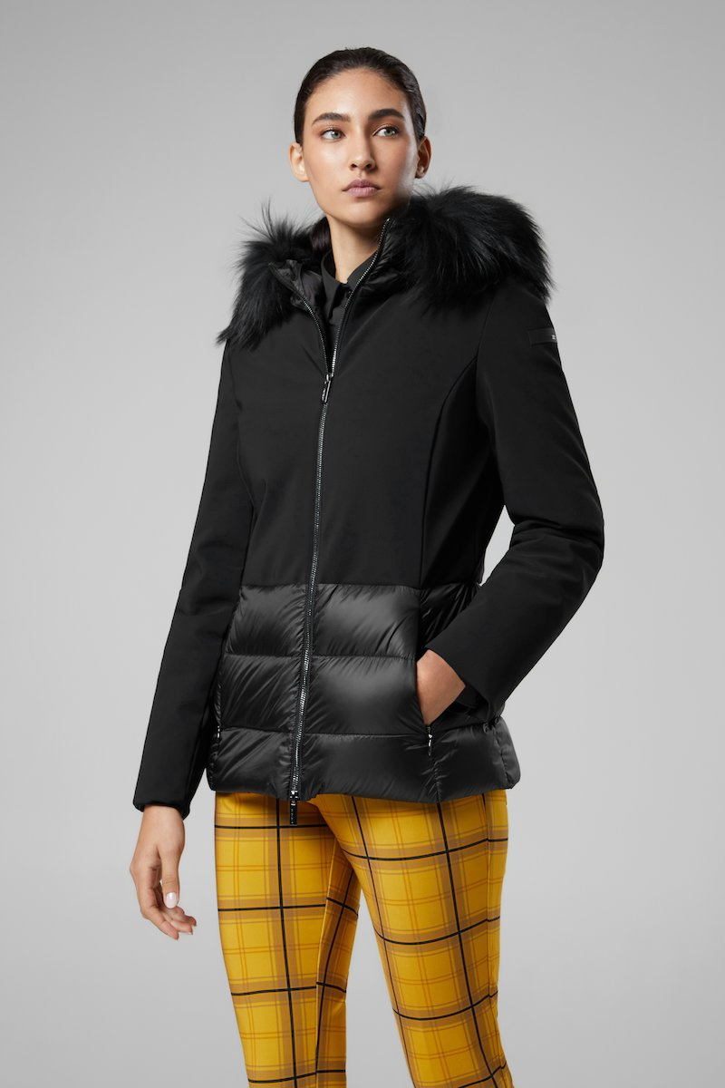WINTER HYBRID HOOD LADY FUR T