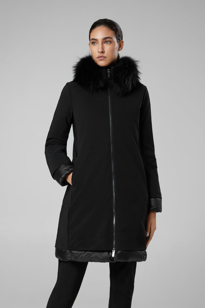 LIGHT WINTER COAT LADY FUR T