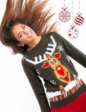 Maglia Vero Moda con renna natalizia