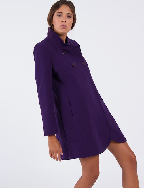Cappotto Vougue doppiopetto - Violet