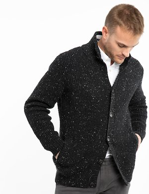 Cardigan melange Gant in lana