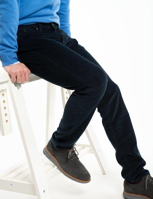 Pantalone Gant in velluto a costine - Navy_Beige