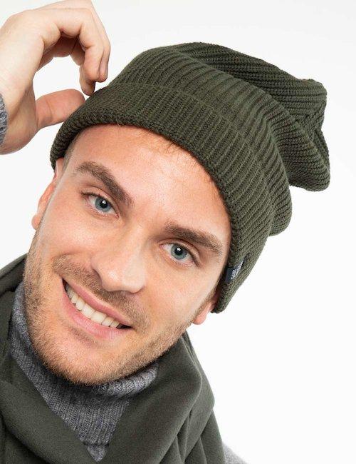 Cappello Gant a cuffietta - Green_Pink
