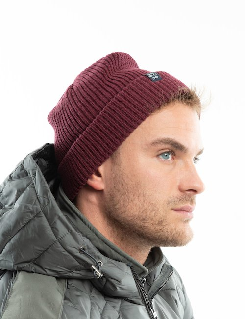Cappello Gant a coste - Burgundy