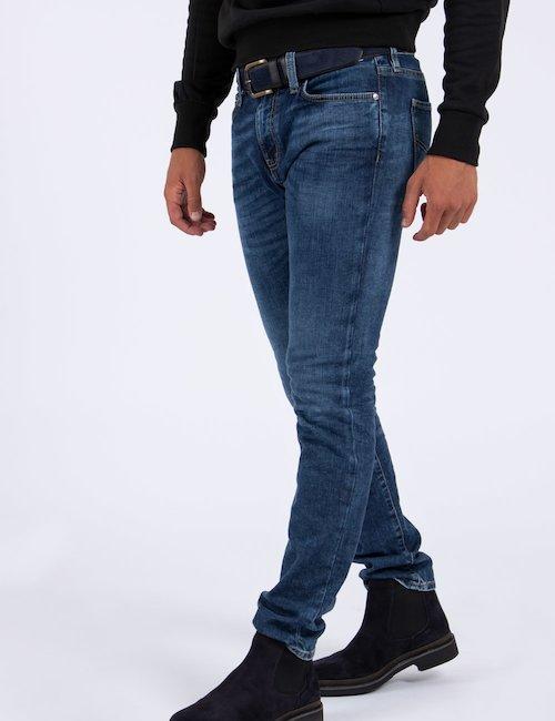 Jeans Gas skinny - Navy_Beige