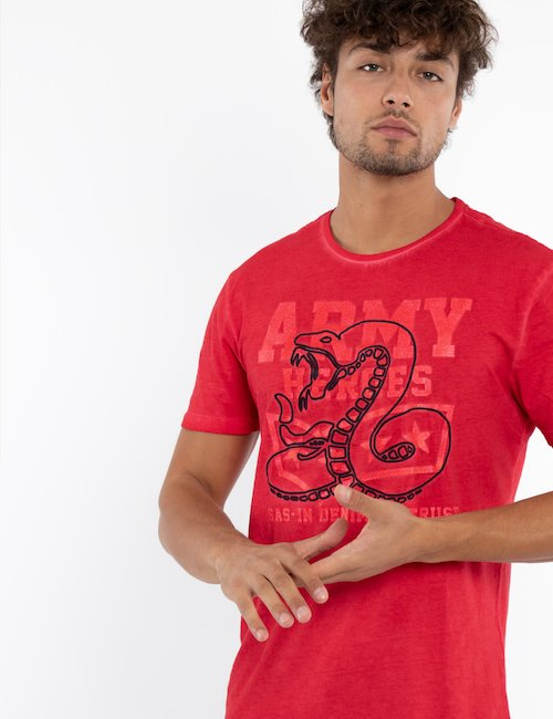 T-shirt Gas con grafica - Red_Pink