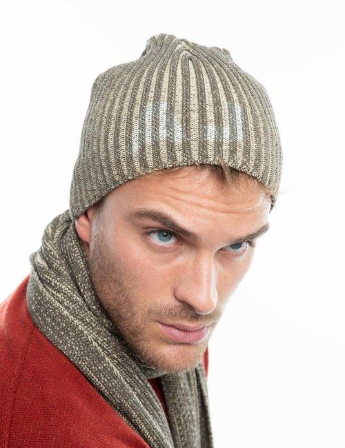 Cappello Armani Jeans a cuffietta - Brown
