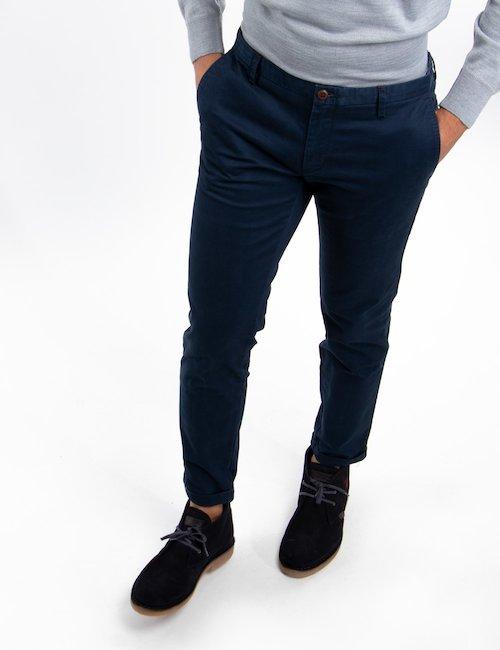 Pantalone chinos At.p.co - Navy_Beige
