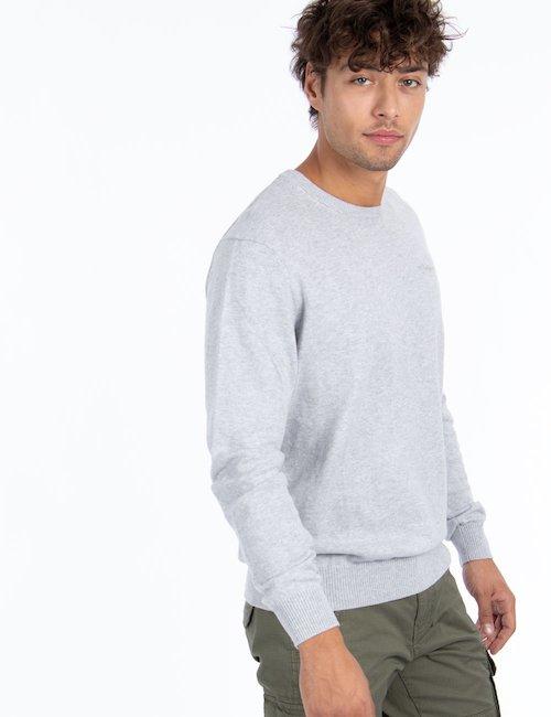 Maglia Pepe Jeans girocollo basic - Silver_Black