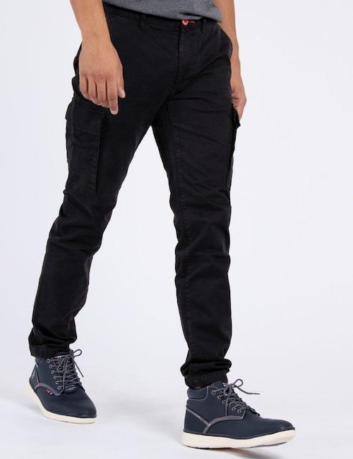 Pantalone con tasconi FM17W02PU esf - Nero