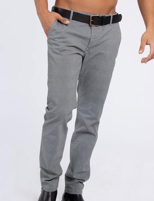 Pantalone Fred Mello micro fantasia - Grey_White