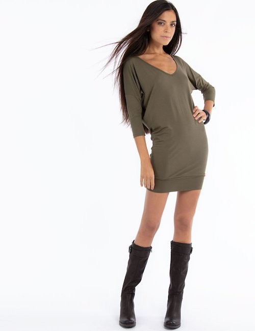Vestito Fracomina corto e aderente  Cod. art FR14FW5067 sf - Verde
