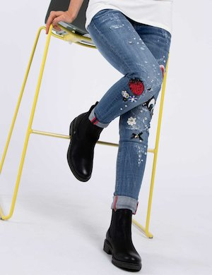 Jeans Fracomina skinny con strass glamour