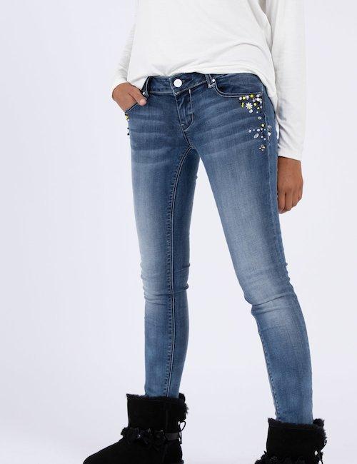 Jeans Fracomina slim con strass - Jeans