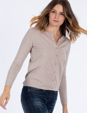 Cardigan basic in viscosa