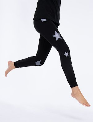 Pantalone Maison Espin in felpa con stelle