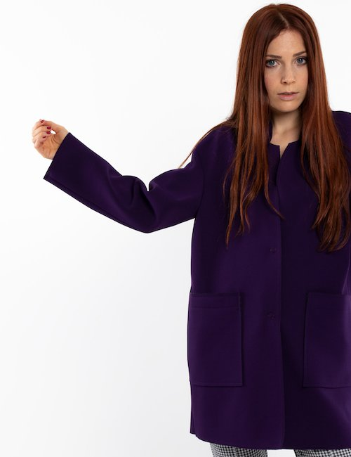 Cappotto Vougue corto - Purple_Yellow