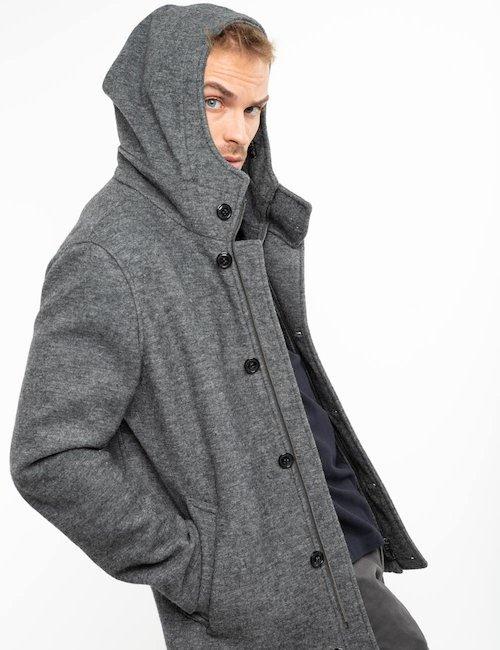 Cappotto Fifty Four con cappuccio - Silver_Black