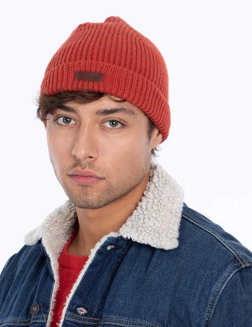 Cappello invernale con logo - Rosso