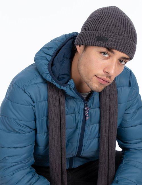 Cappello invernale con logo - Silver_Black
