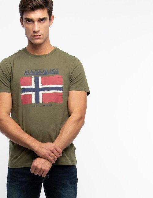 T-shirt Napapijri con stampa - Green_Pink