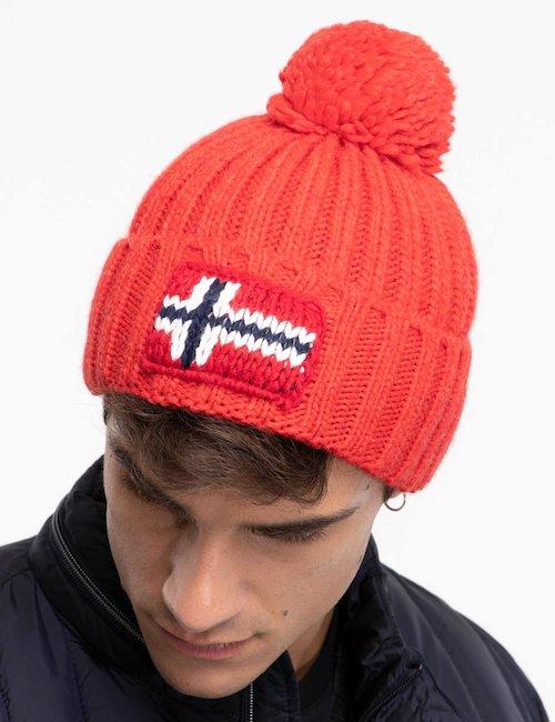 Cappello Napapijri con pom pom - Red_Pink