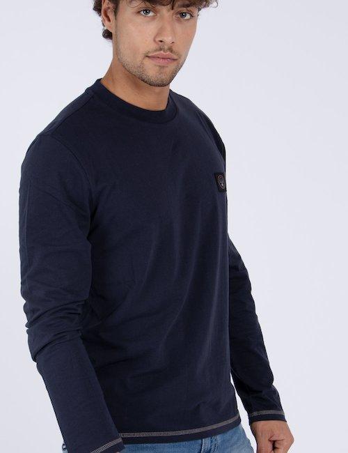 T-shirt Napapijri manica lunga - Blu