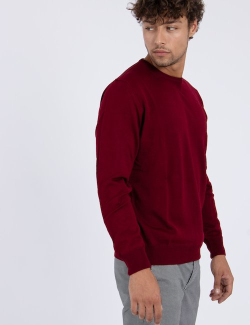 Maglia Nick Logan di lana - Bordeaux