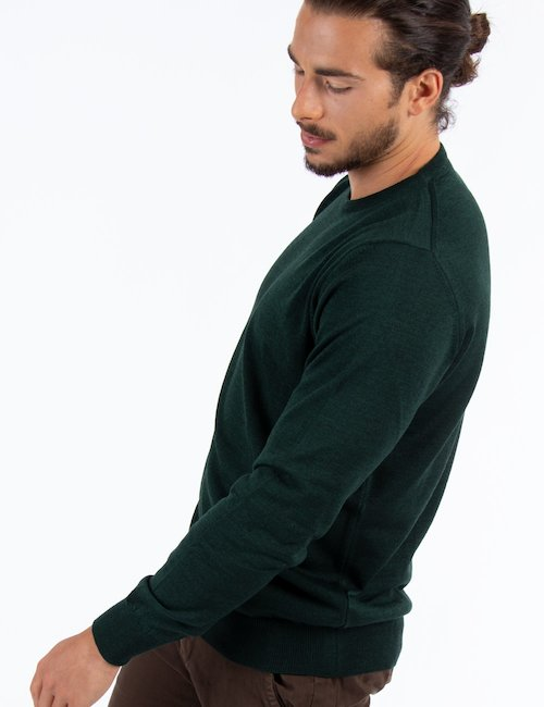 Maglia Nick Logan di lana - Verde