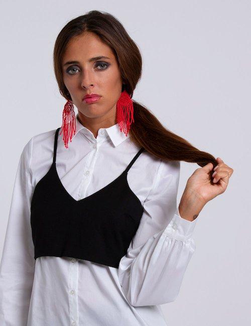 Camicia Guess  con top - Bianco