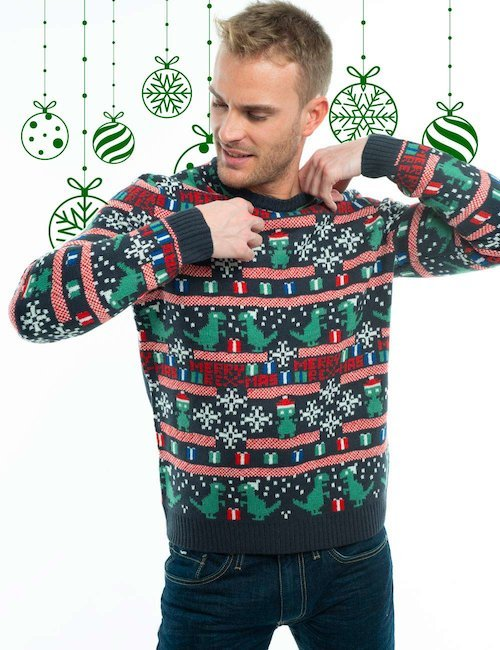 Maglia Only & Sons Natale - Navy_Beige