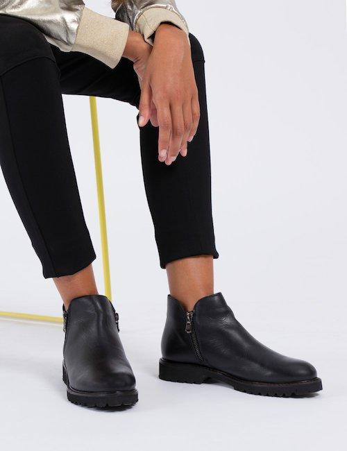 Stivale Cafè Noir ankle boot  con cerniera - Nero