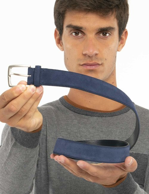 Cintura Gant in pelle - Blu