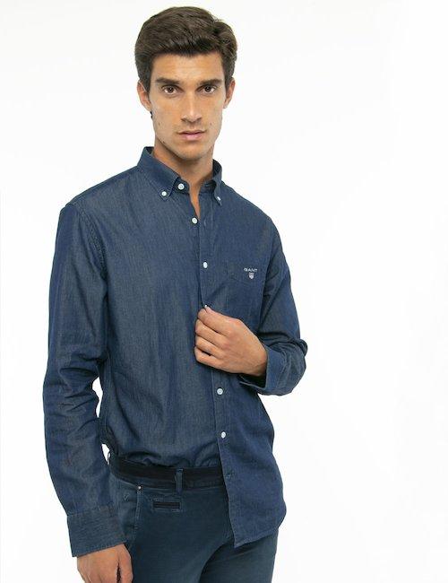 Camicia Gant denim - Blu