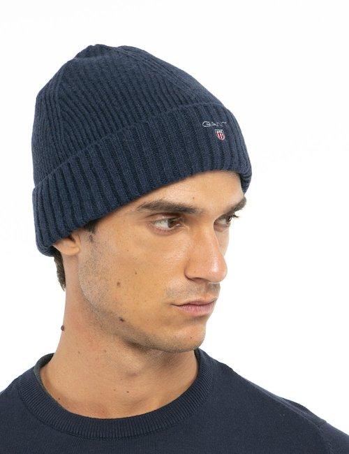 Cappello Gant con logo ricamato - Blu