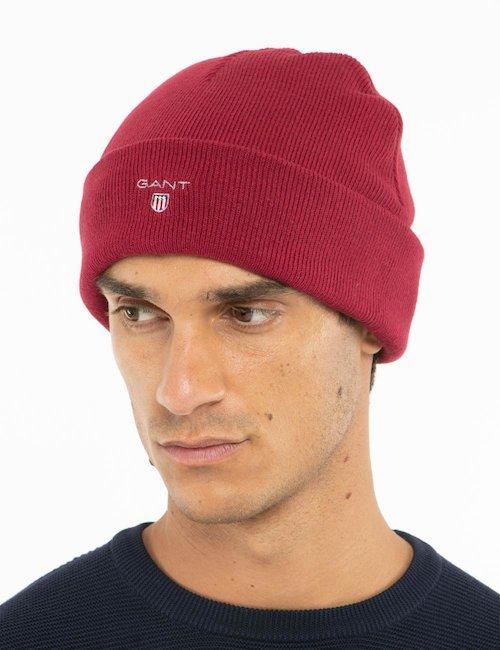 Cappello Gant con risvolto - Rosso