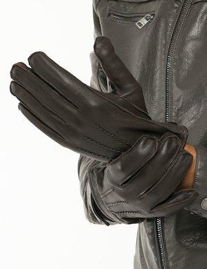 Guanti Gant in pelle e cashmere