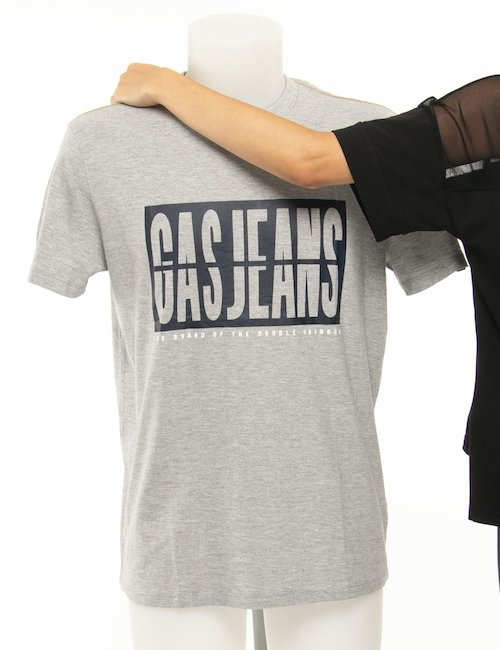 T-shirt Gas jeans - Grigio