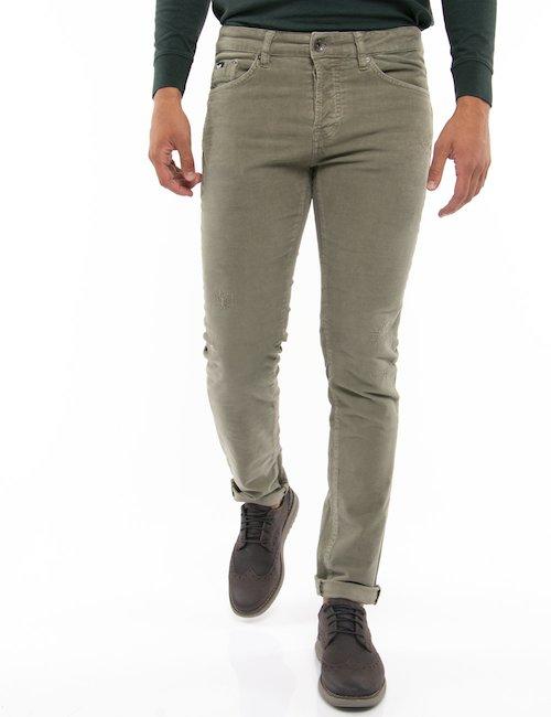 Pantalone Gas effetto velluto - Verde