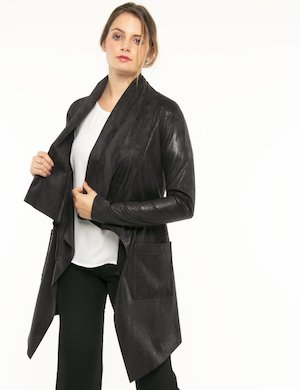 Cappotto Vougue con zip di sbieco