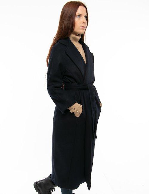 Cappotto Vougue con cintura in vita - Blu