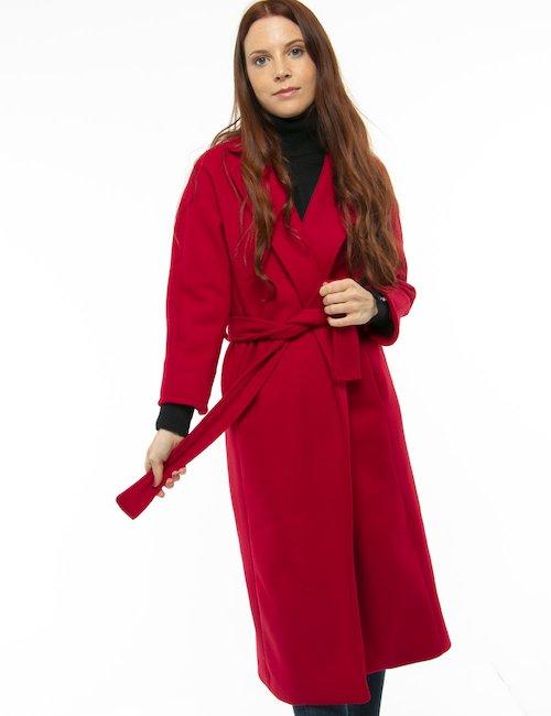 Cappotto Vougue con cintura in vita - Rosso