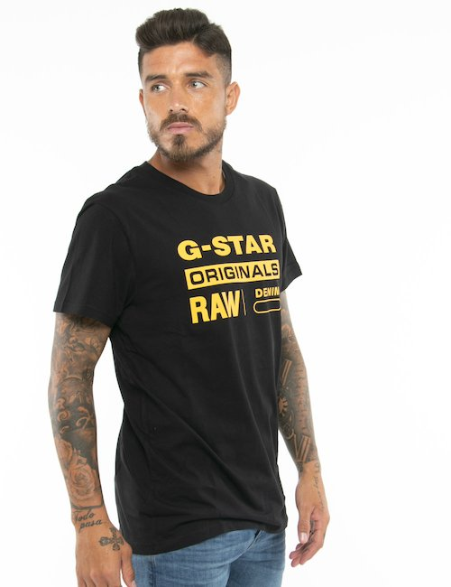 T-shirt G-Star Raw con logo - Nero