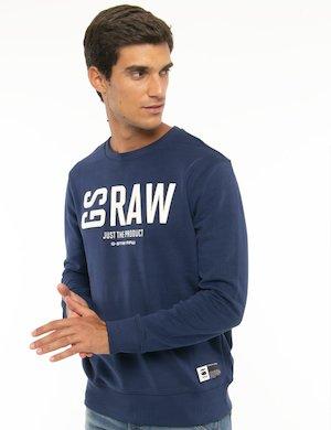 Felpa G-Star Raw con logo applicato