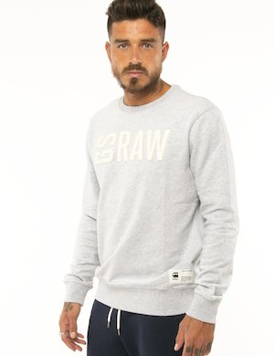 Felpa G-Star Raw con logo applicato