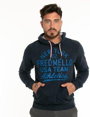 Felpa Fred Mello con scritta centrale