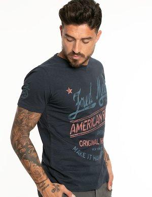 T-shirt Fred Mello con logo e scritte
