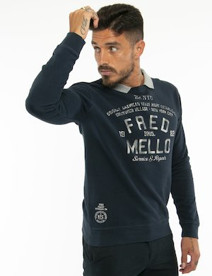 Felpa Fred Mello con collo revers