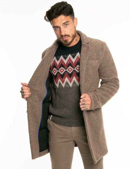 Giacca Fred Mello in lana cotta - Marrone